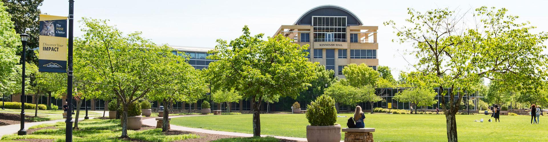 KSU's Campus Green during the beautiful summer months.